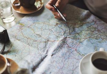 Map travel advice blog